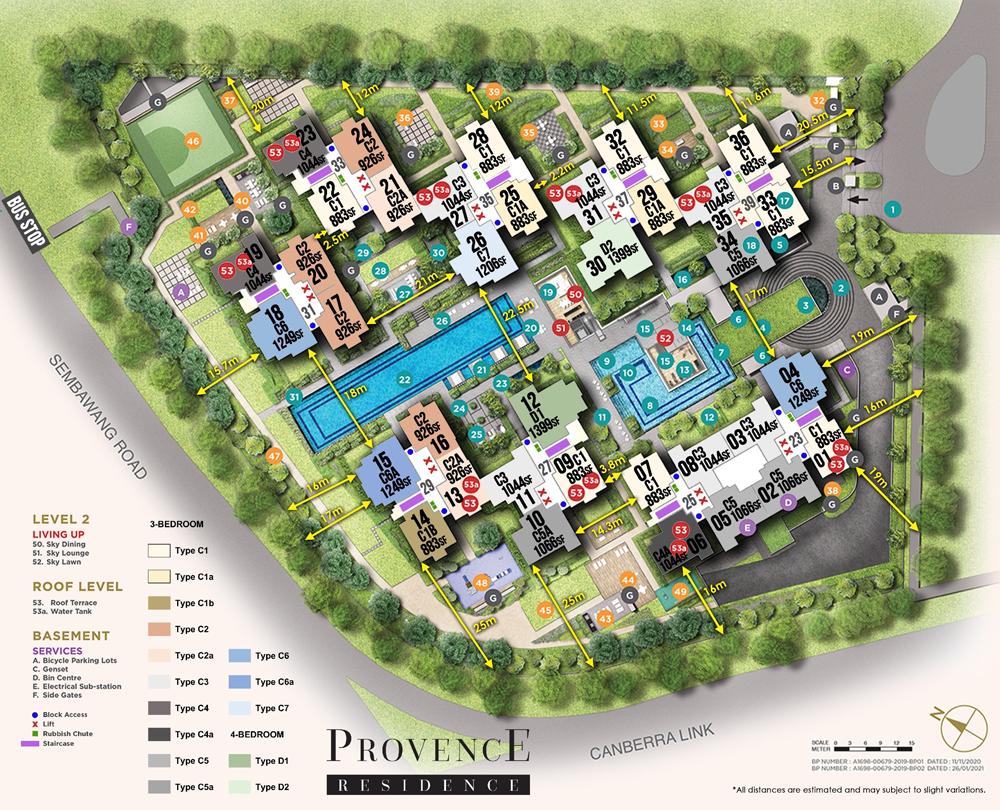 Provence Residence Siteplan